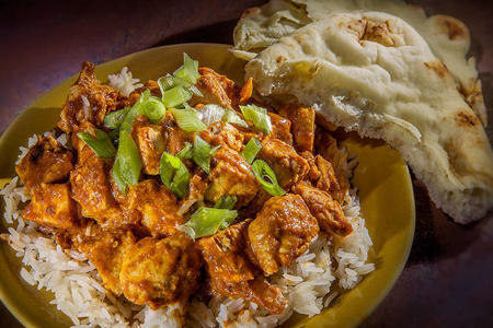 Curried Yogurt Chicken with Rice