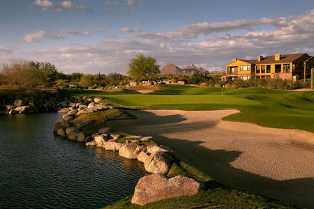 Grayhawk Golf Club No 18 Talon Course Scottsdale, AZ.
