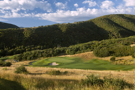 Soldier Hollow Golf Club No 17 Gold Course Midway, UT.