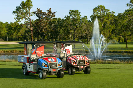 Walt Disney World Golf Beverage Carts, Lake Buena Vista, FL.